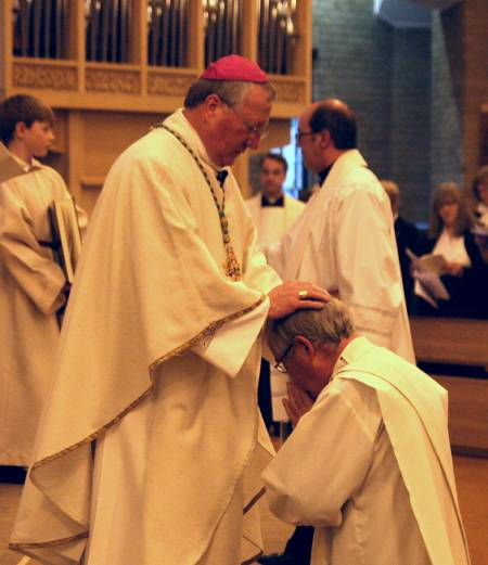 photo of BishopTerry ordaining David Pick