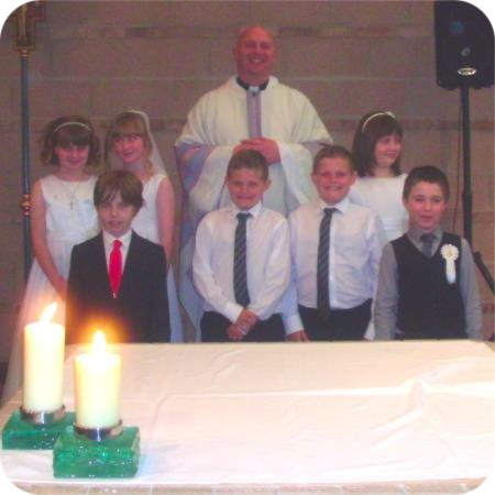photo of First Holy Communicants at St Francis of Assisi, Hull