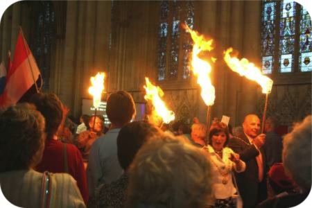 photo of York's civic leaders and church leaders carrying light to the world