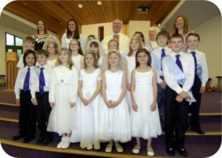 First Holy Communion in the new Church at Guisborough