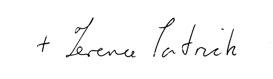 signature of Bishop Drainey