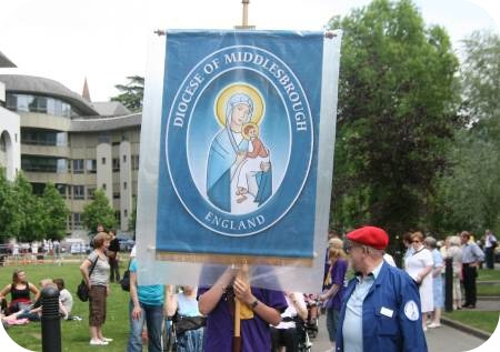 photo of Middlesbrough Diocesan banner