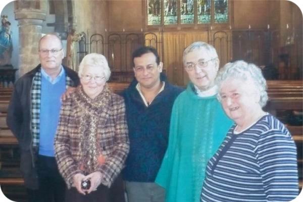 photo of David Cross, Stephanie Winter, Winston Berrios, Fr Tim Bywater and Frances Hall