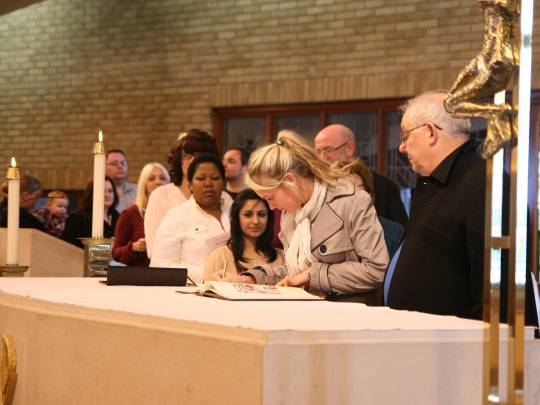 photo from the Rite of Election 2011