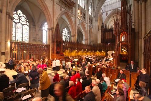 photo taken inside York Minster