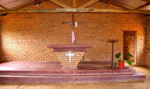 photo of the interior of the church in Malawi