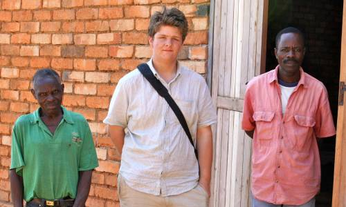 photo of James and friends in Malawi