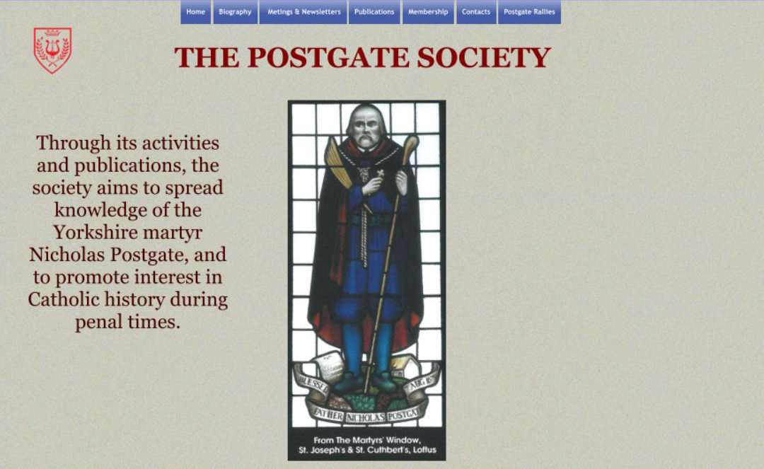 New Website For Postgate Society