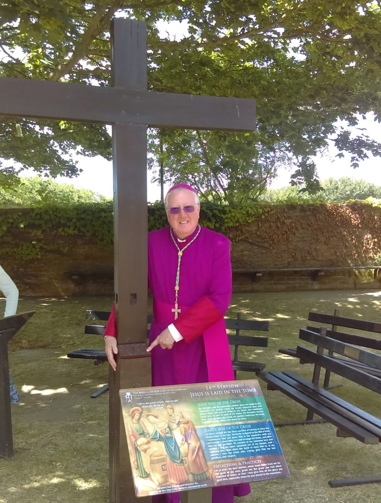 Bishop Terry at the 14th station in Walsingham