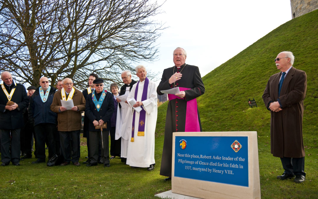 Bishop Unveils Plaque For Pilgrimage Of Grace Leader