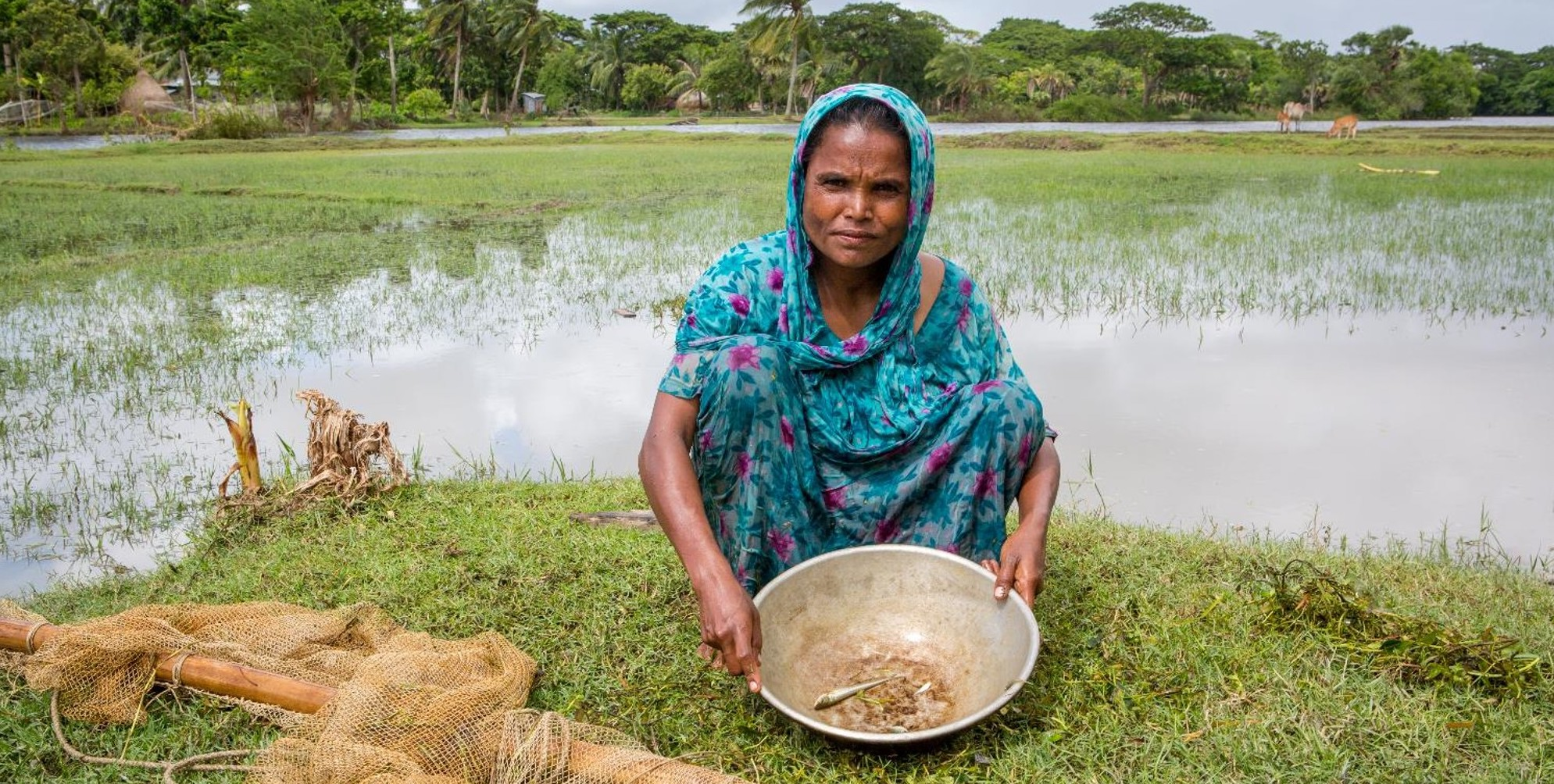 Mahinur, who lives in an area of Bangladesh that has been badly hit by climate change – Photo by CAFOD