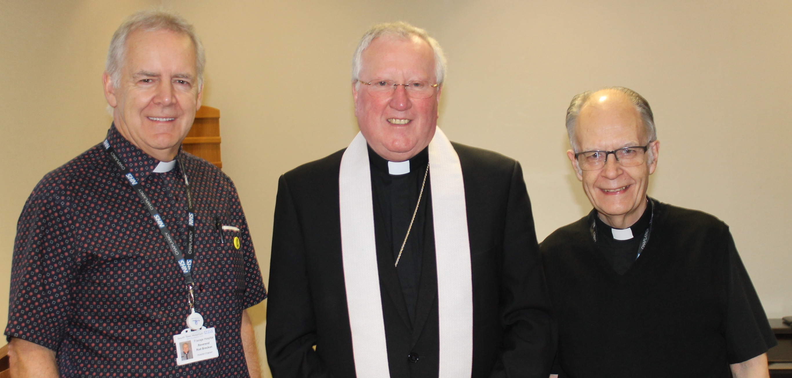 Baptist minister Rodney Breckon, Bishop Terry and Deacon Len Collings