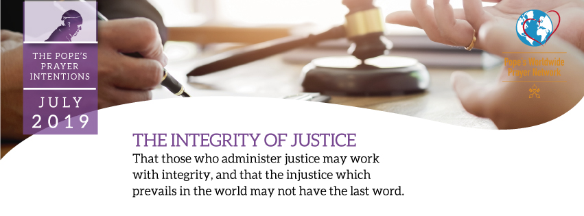 Justice Is Holy Father's Prayer Intention For July