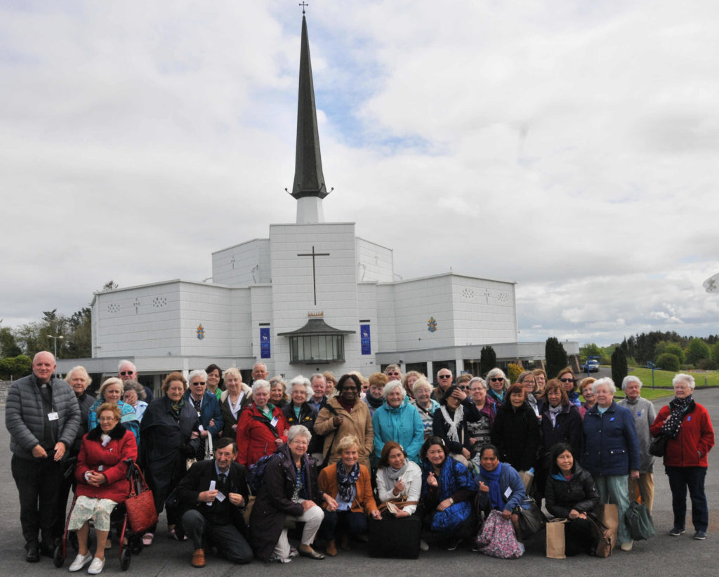 Pilgrims who visited Knock for the 140th anniversary of the Apparition of the Virgin Mary