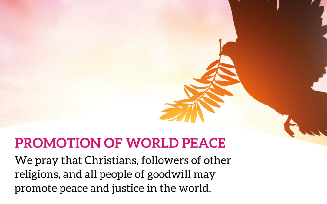 Peace In The World – The Pope's January Intention