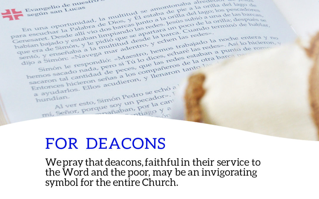 """Pope Dedicates Prayer To Deacons – """"Guardians of Service"""""""