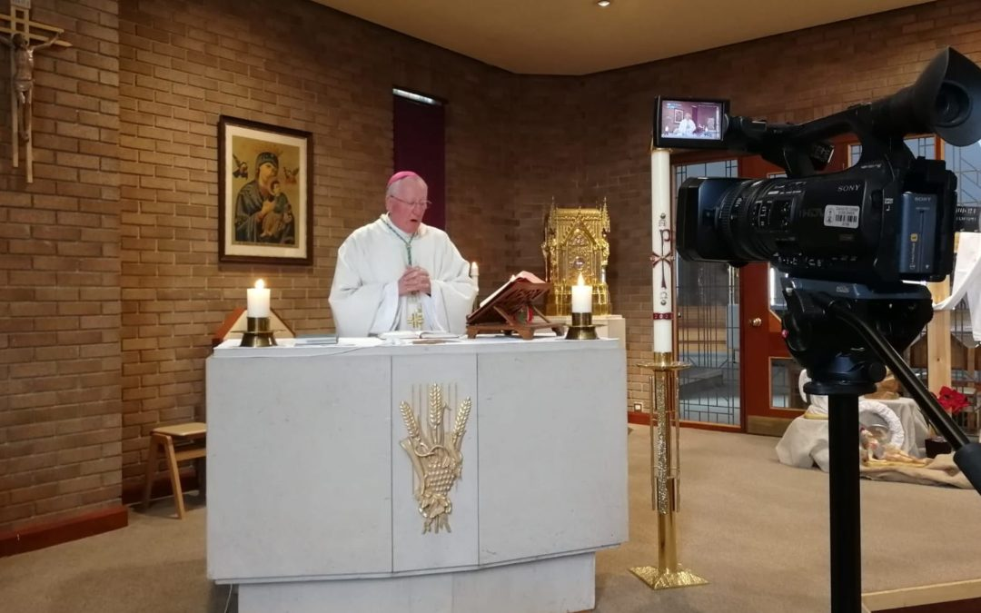 Bishop Terry saying Mass at the cathedral – Photo by Father Albert Schembri