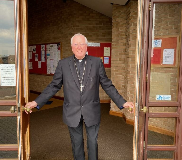 Bishop Terry Is First To Enter Cathedral