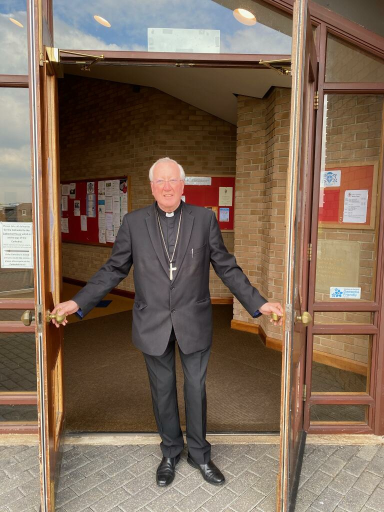 Bishop Terry opens St Mary's Cathedral doors