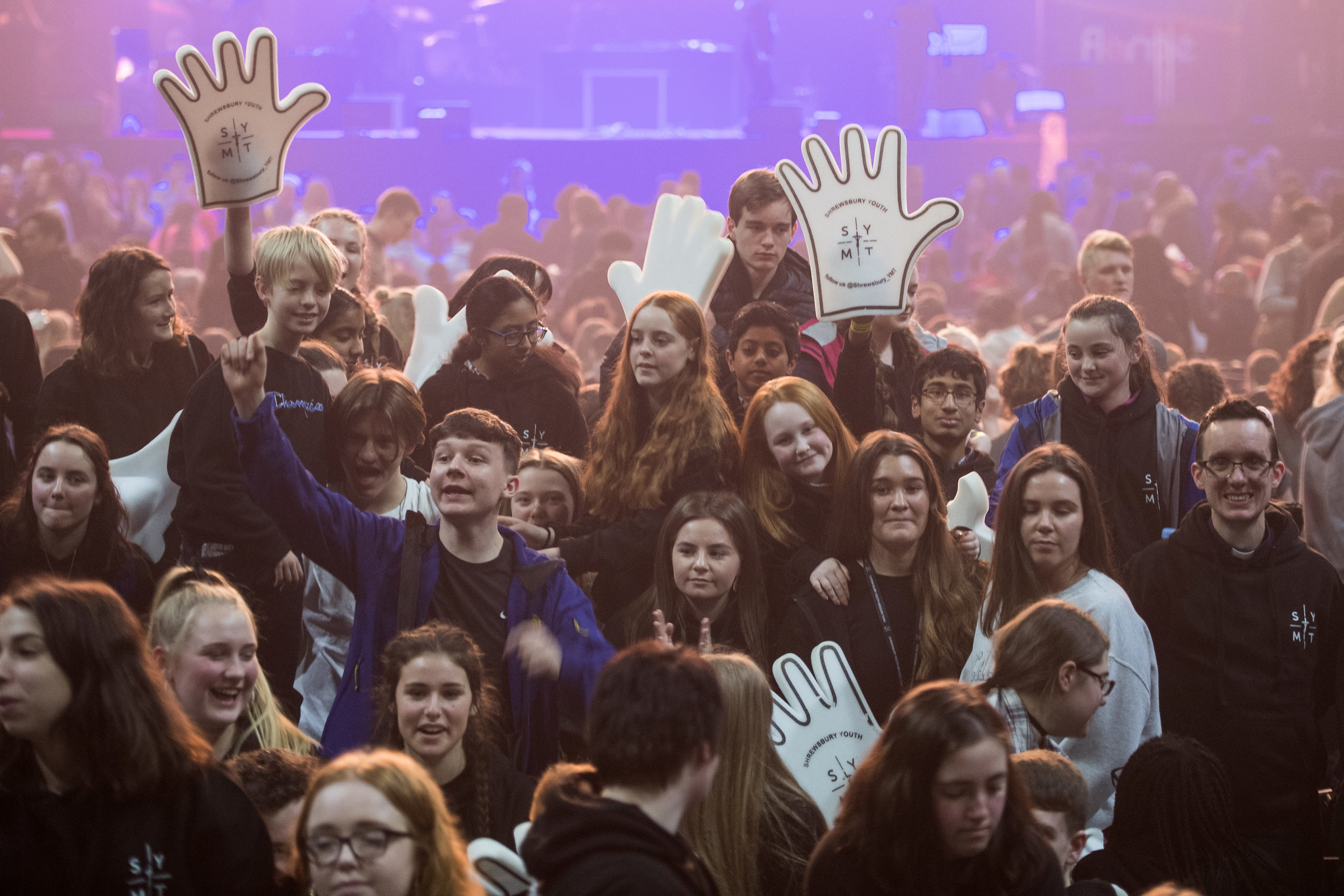 Flame: CYMFed organises the Flame Congress, the largest Catholic youth event in the UK. The biannual event gathers 8,500 young people at the SSE Arena, Wembley. Our picture shows Flame 2019