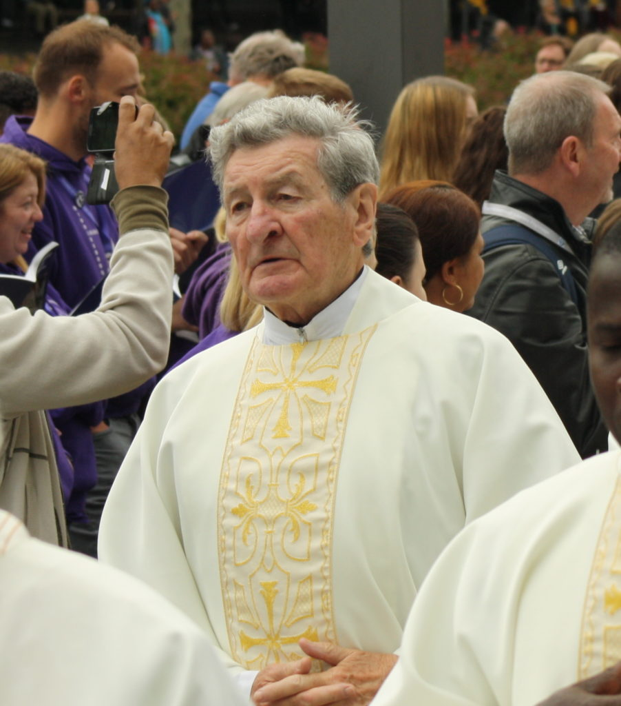 Father Peter Ryan in Lourdes – Photo by Joe Harrison