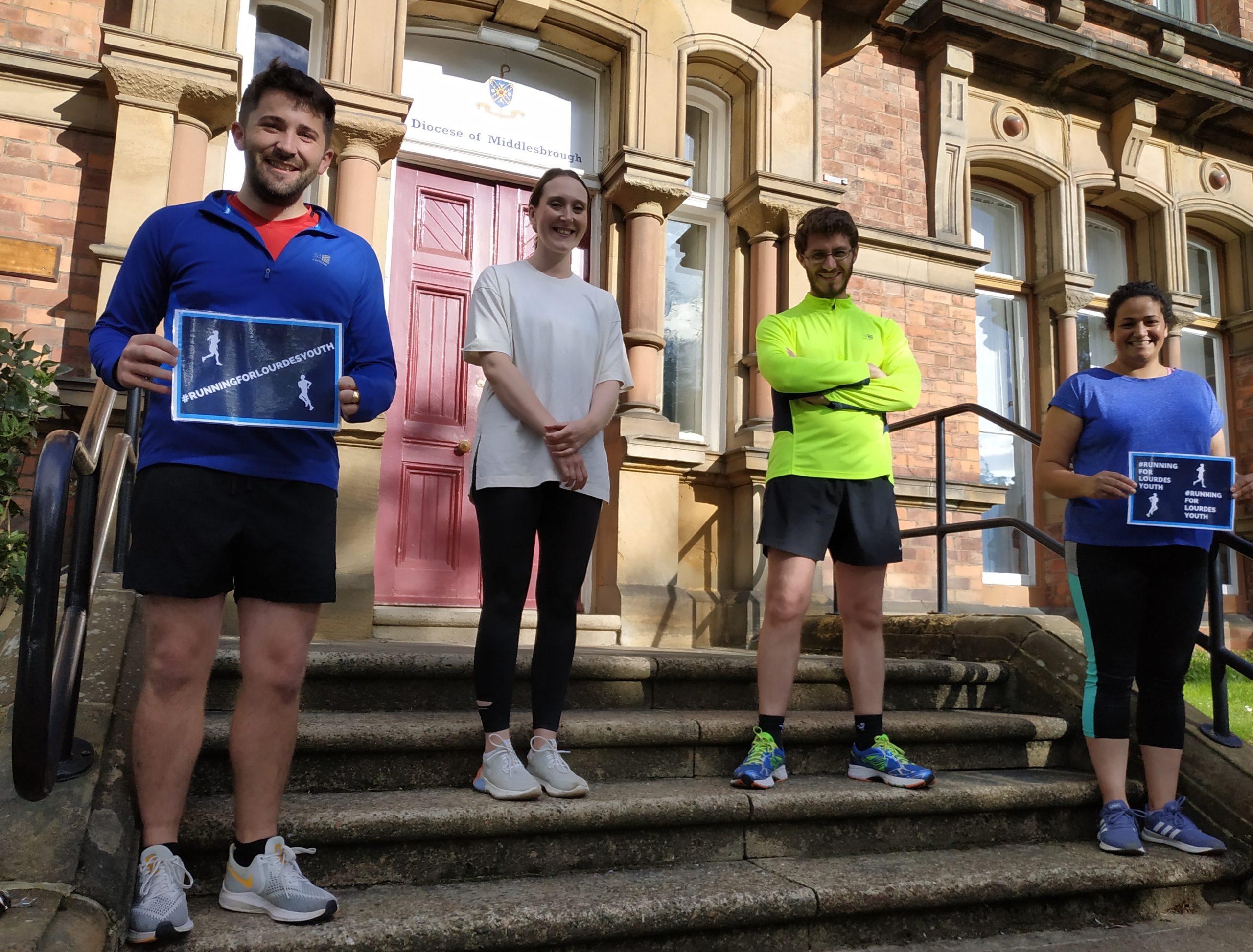 Lourdes runners Chris Lovell, Catherine Kelly, Father Phil Cunnah and Liz Jayasuriya