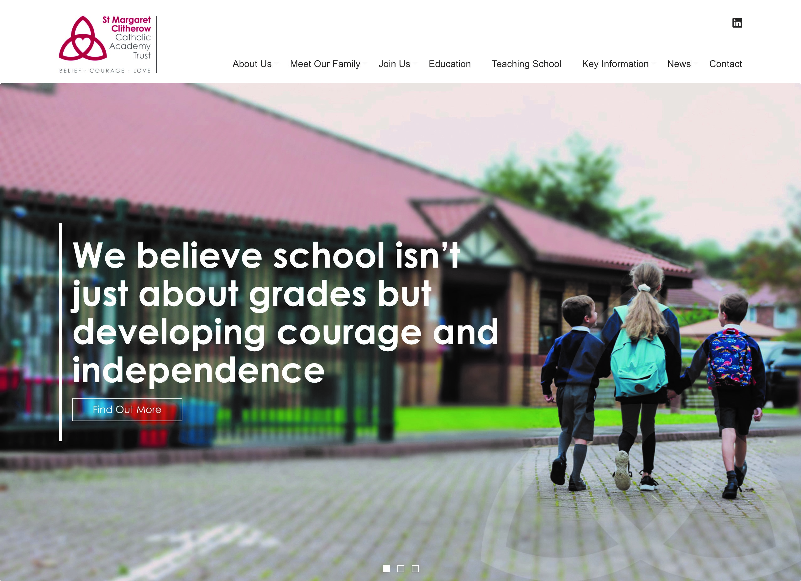 St Margaret Clitherow Catholic Academy Trust's new website