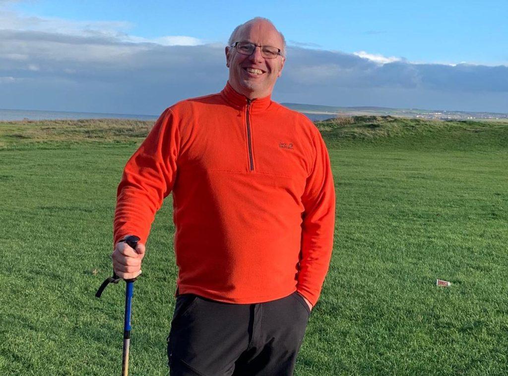 Father Bill Serplus on his coastal walk
