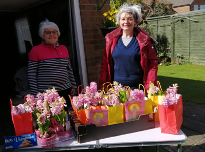 St Aelred's, York, SVP members with the Easter gifts
