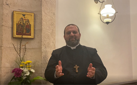 Father Nael Abu Rahmoun, from Christ Church, Nazareth, is encouraging people to join the Pentecost Challenge after Covid has left parents unable to pay school fees