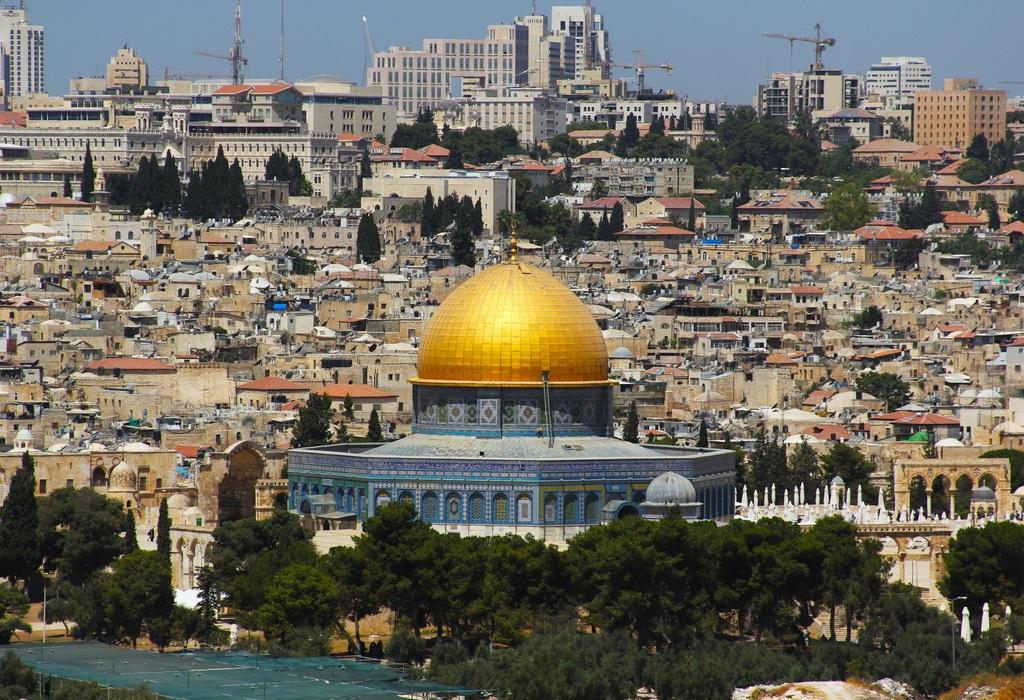 The Jerusalem skyline, including the Dome of the Rock