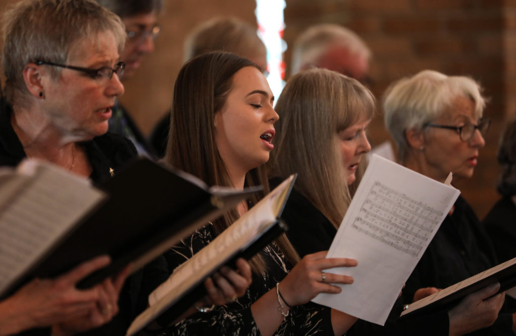 Members of the diocesan choir – Photo by Chris Booth