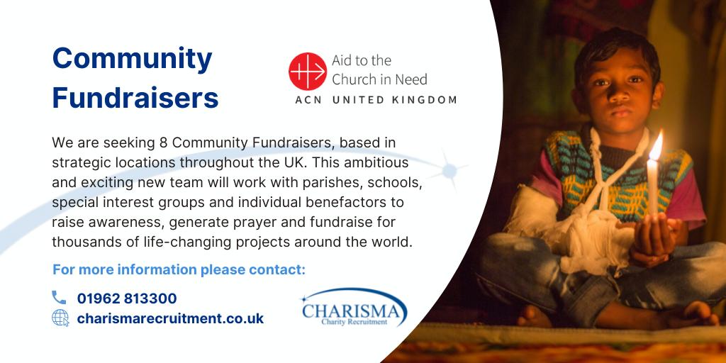 Catholic Aid Charity Seeks Regional Fundraisers