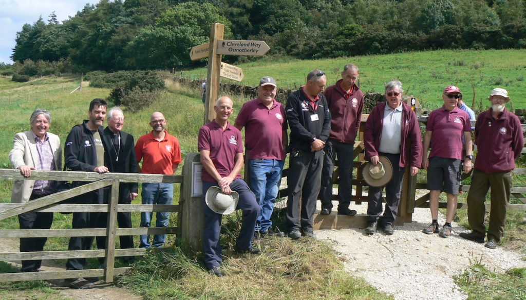 Bishop Terry opens the new Cleveland Way pathway that passes an entrance to the Shrine of Our Lady of Mount Grace